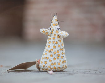 Plush Mouse toy, stuffed mouse toy, toy Mouse, stuffed animal Mouse, Mouse fabric, textile Mouse