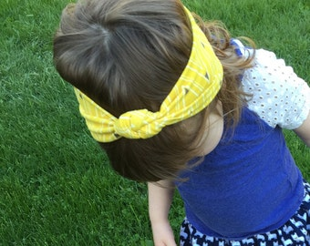 Knotted Turban Baby Headband Mustard Yellow
