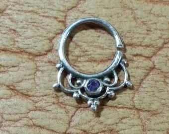 Septum ring, Septum jewelry, Silver septum, Septum piercing, Septum, Nose jewelry, Sterling silver septum, Septum hoop ring, boho septum