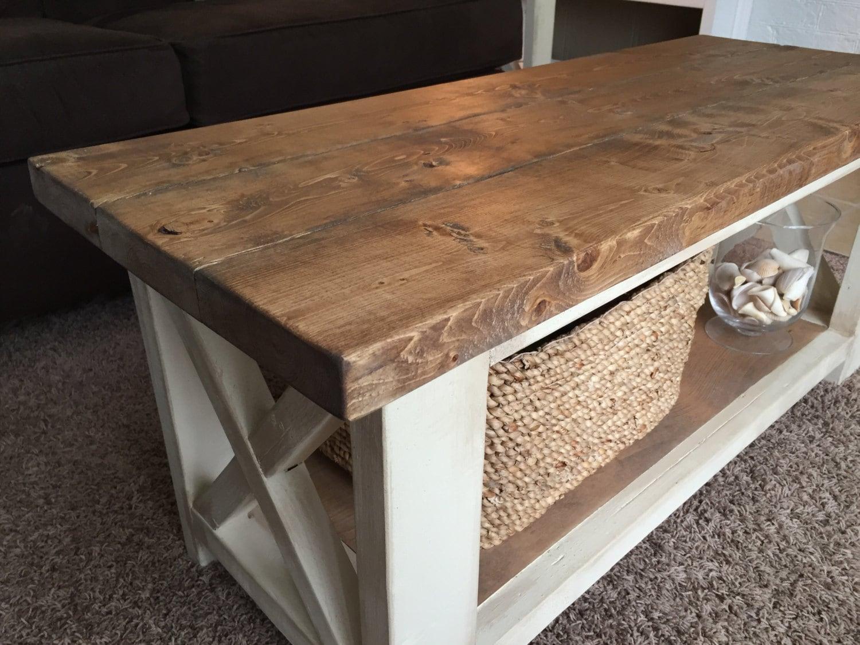 custom farmhouse coffee table rustic coffee table. Black Bedroom Furniture Sets. Home Design Ideas