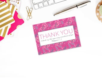 Leafy Christian Thank You Note Card