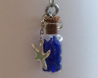 Mini Vial of Blue Sea Glass