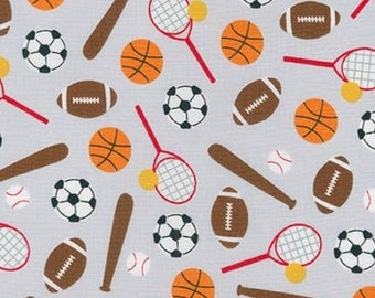 Sports Kids Balls Fabric - Adventure - sold by the 1/2 yard
