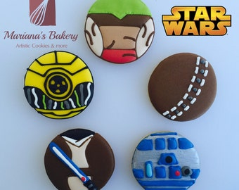 Star Wars Favor Sugar cookies (25 cookies) Original Design