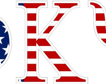 phi kappa psi american flag greek letter sticker 25