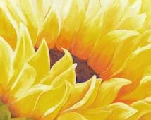 Sunflower Painting Oil, Sunflower Wall Art, Gorgeous Abstract Flower, Wall Art Painting, Yellow Flowers, Yellow Flowers, Sunflower Decor