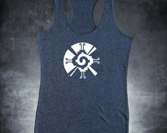 Aztec Duality Tank top in Gray racer back