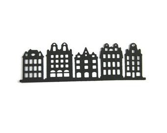 Paper Row Houses Die Cut set of 12