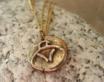 Charm Bracelet Pendant, Eagle Pendant, Necklace Pendant, Bronze IO
