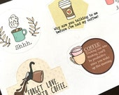 N13 Coffee Lover Decorational Stickers