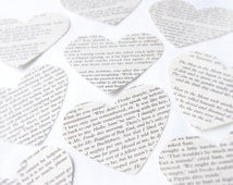Lord of the Rings heart paper confetti, extra large scrapbook confetti, Recycled book confetti, Wedding confetti, Handmade in England