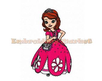 Princess sofia embroidery design etsy fr - Telecharger princesse sofia ...