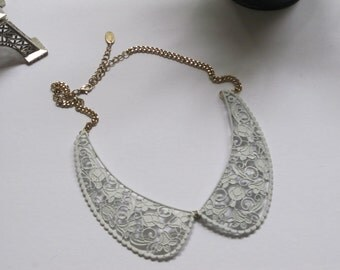 White Lace Peter Pan Collar Necklace