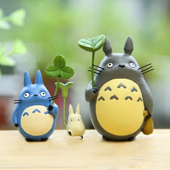 Fairy Garden Accessories Miniature Totoro Holding by ...