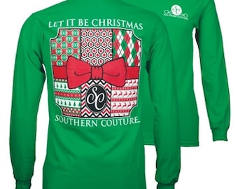 Let it be Christmas Long Sleeve, Southern Couture, Simply Southern Style, Christmas