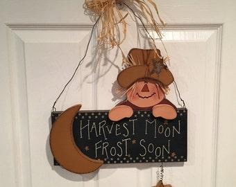Harvest Moon Scarecrow Sign