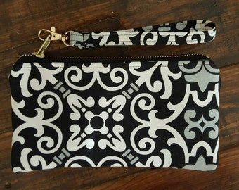 Small Handbag, Wristlets,  Cell phone wallet, small purse, Iphone 6 wrislet, small clutch
