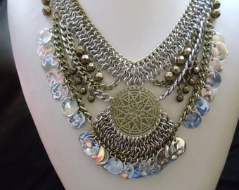 Statement necklace oppulent in the tribal style