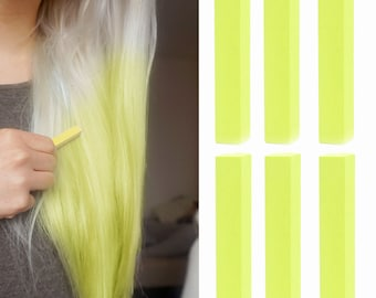 6 Best Temporary Pastel Yellow hair Dye for dark and light hair - Set of 6 | DIY Yellow hair Chalk for easy and simple hair coloring at home