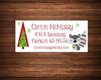 Christmas Address Labels, Printable, Holiday Address Labels