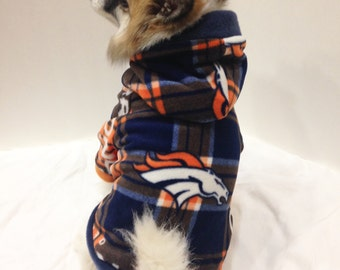 Denver Broncos Dog Hoodie, Pet Sweater, Small Breeds