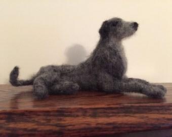 Needle felted lurcher deerhound longdog