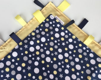 Stars and Dots Silkie Tag Blanket