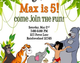 The Jungle Book Birthday Invitation