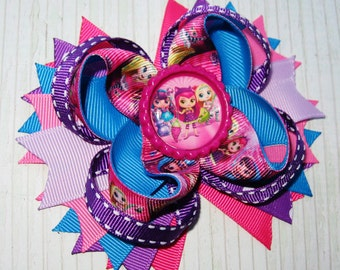 Little Charmers hair bow Boutique hair bow LIttle Charmers hair clip Little Charmers bows Stacked hair bow Little Charmers Boutique