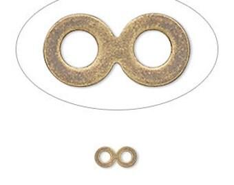 Figure 8 Link, Antiqued Brass Link, Gold Plated, 8x4mm, 20 each, D853