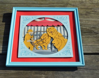 Circus themed wall art- Lion Tamer