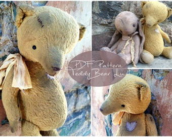 PDF Pattern Teddy Bear Lu,instant download