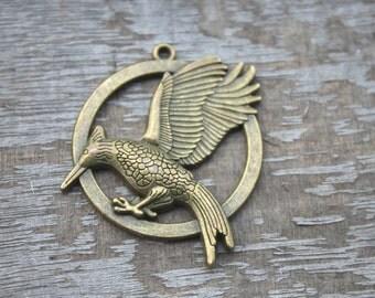 5pcs--catching fire Charms, bronze tone catching fire charm pendants 35mm D1177