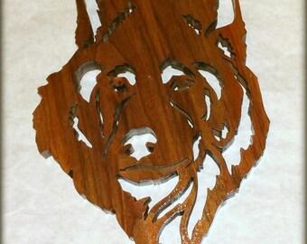 Scroll Saw Husky Dog Plaque - Ashland City, TN - Woodworking