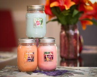 All Natural Soy & Sawdust Candle - Cranberry Scent - Ashland City, TN