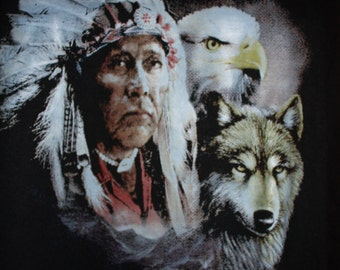 Chief Eagle Wolf T Shirt