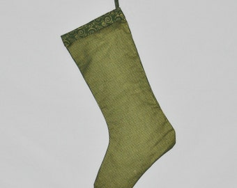 Green & Gold Christmas Stocking