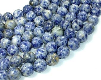 Blue Spot Jasper Beads, 12mm Round Beads, 15 Inch, Full strand, Approx 33 beads, Hole 1.2 mm (153054002)