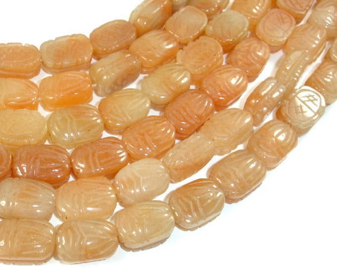 Red Aventurine Beads, 10x14mm Carved Oval Beads, 15.5 Inch, Full strand, Approx 28 beads, Hole 1mm (367051002)