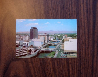 Vintage Postcard, UNUSED, Reno's New Skyline, Nevada, mid century