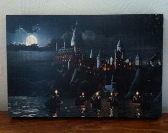 Journey to Hogwarts/Harry Potter - Handmade Wooden Sign