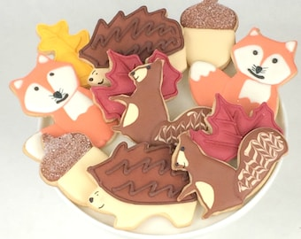 Fall Woodland Creatures Cookies - Animals - Sugar Cookies - Autumn