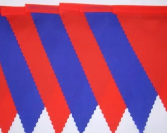 Samoa Red & Blue Fabric Bunting, ideal counrty football,rugby,hockey