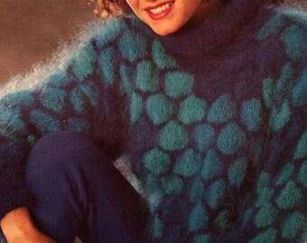 "Ladies Luxury Mohair Jumper 32/34""  36/38""  Knitting Pattern"