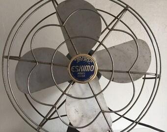 Eskimo Fan, Fan, Eskimo Fan 1005R, Vintage Fan, Industrial Fan.