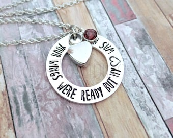 Your Wings Were Ready But My Heart Was Not | Cremation Jewelry | Loss Of Baby | Loss OF Father | Loss Of Mother | Loss Of Child