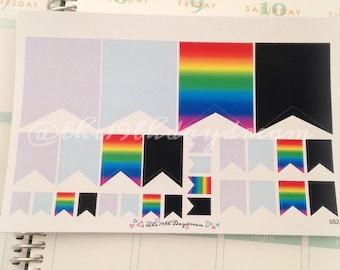 Pinwheel flags set of 28