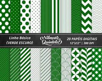 Basic Papers Kit - Dark Green