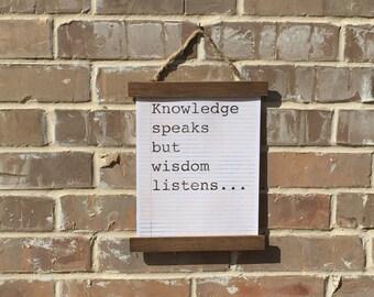 Knowledge speaks print