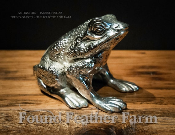 Silver Plated Frog Paperweight